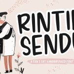 Rintik Sendu Handbrushed Brush Script Font