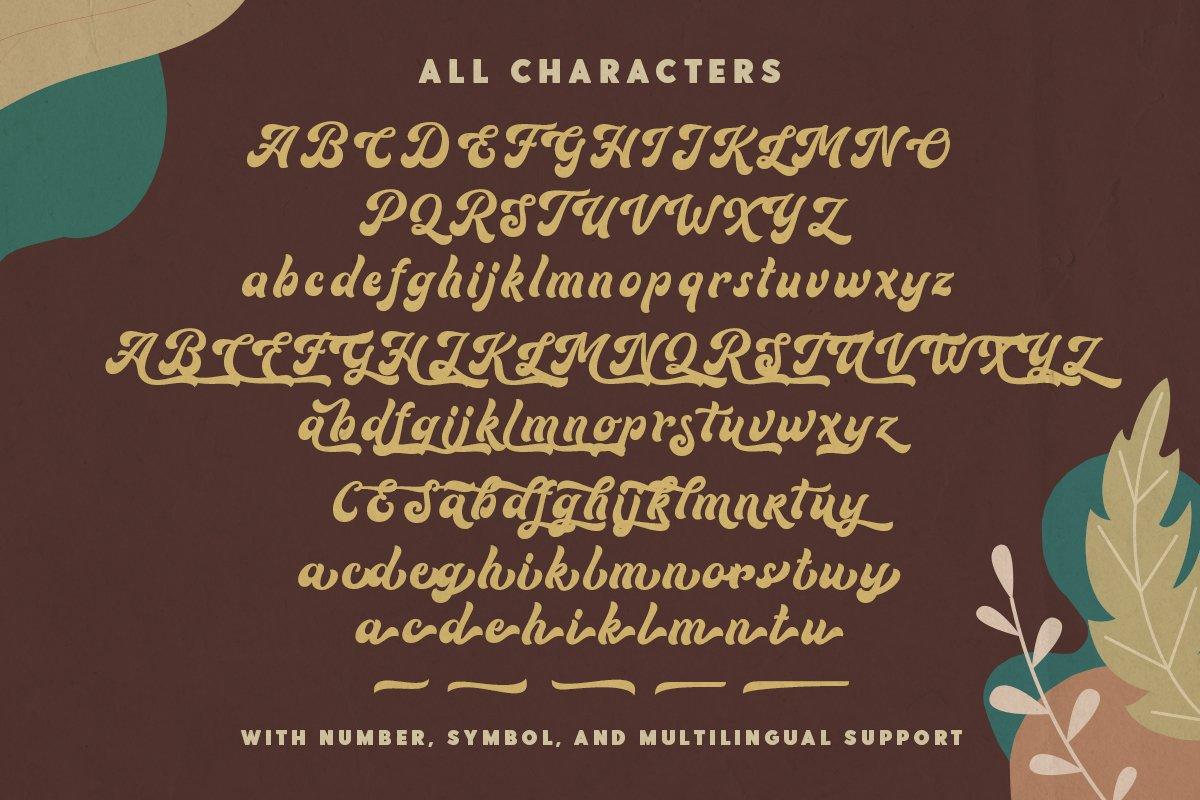 Routhers Retro Bold Script Font-3