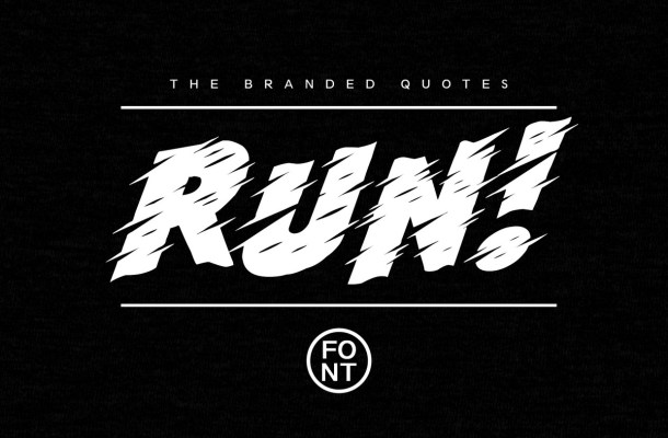 Run! Fancy Font