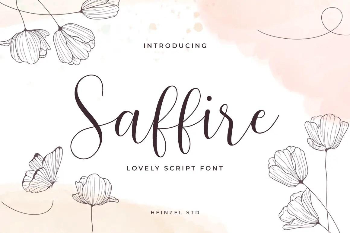 Saffire Lovely Calligraphy Script Font-1