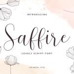 Saffire Lovely Calligraphy Script Font