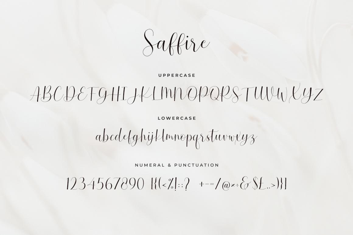 Saffire Lovely Calligraphy Script Font-3