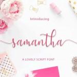 Samantha Calligraphy Script Font