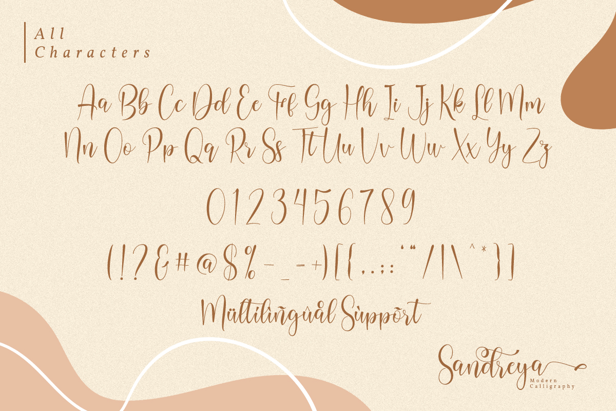 Sandreya Modern Calligraphy Font-3