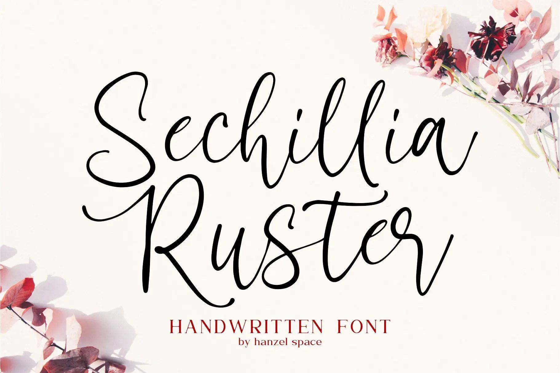 Sechillia Ruster Handwritten Script Font-1