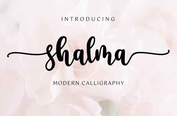 Shalma Modern Calligraphy Font