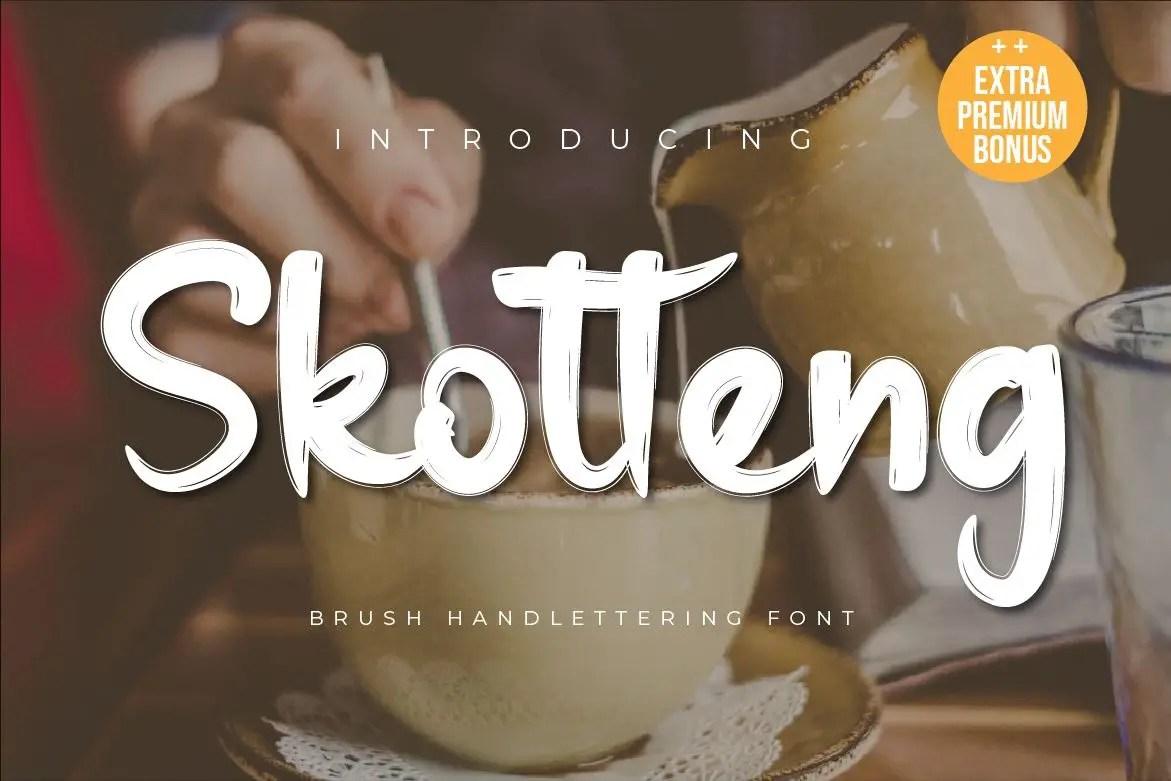 Skotteng Brush Script Font-1