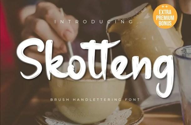Skotteng Brush Script Font