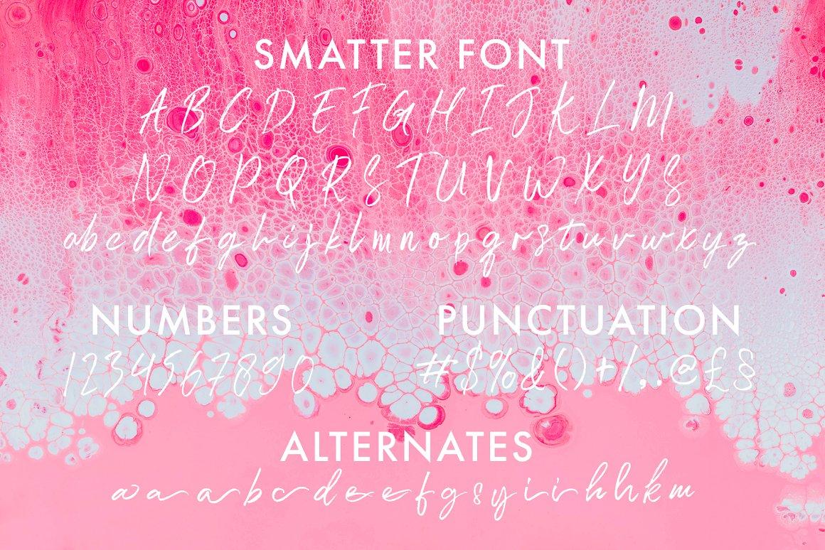 Smatter Brush Script Font-3