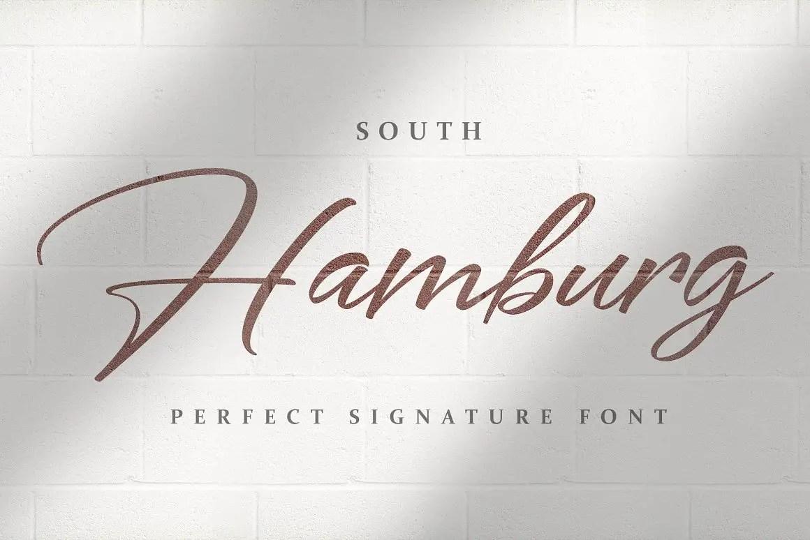 South Hamburg Handwritten Script Font-1