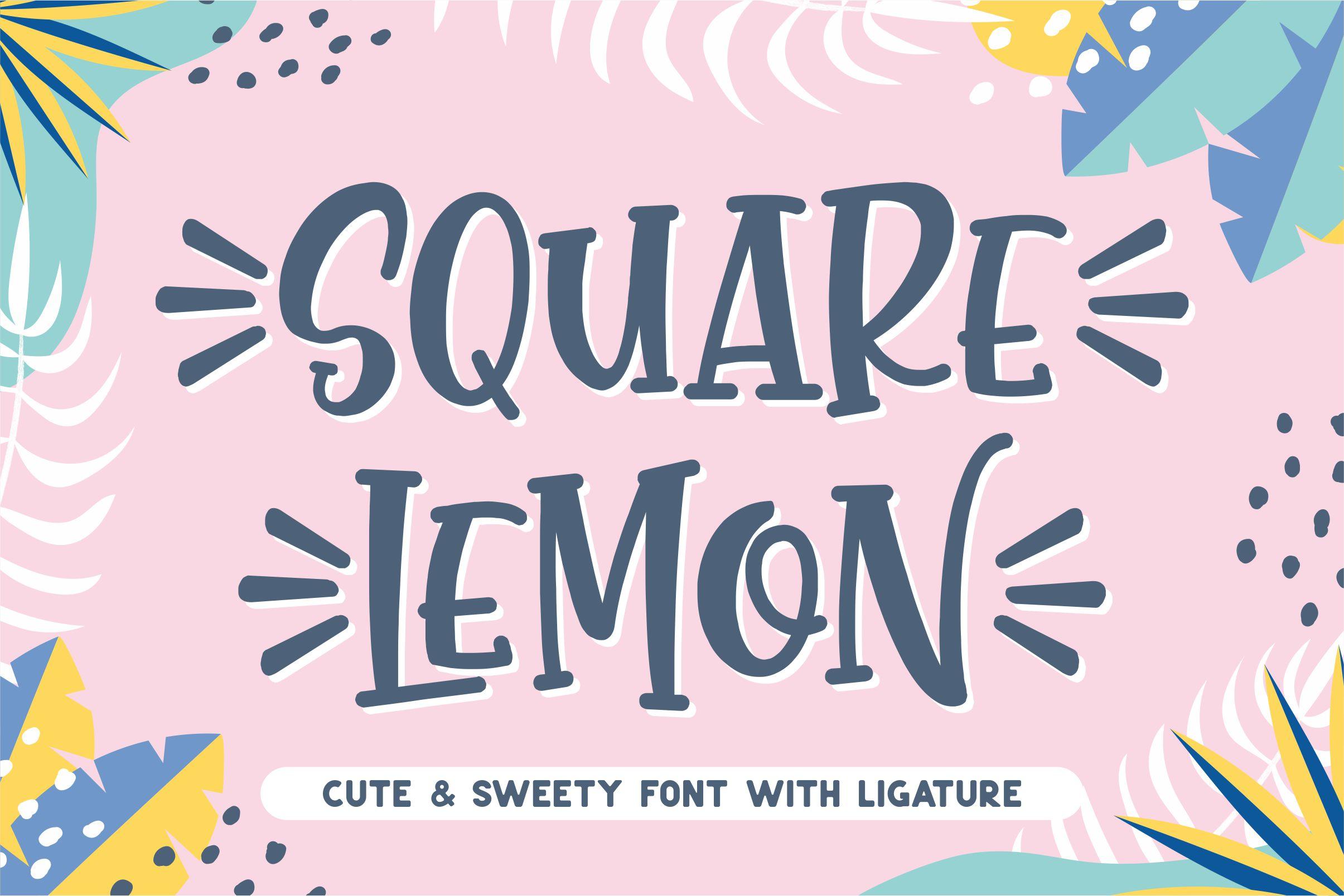 Square Lemon Fancy Font-1