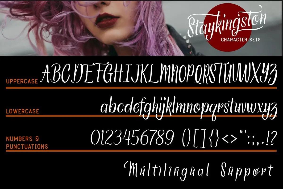 Staykingston Script Calligraphy Font-4