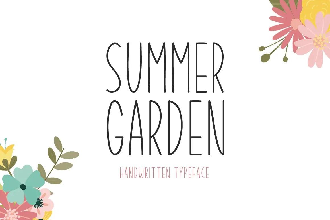 Summer Garden Display Font-1