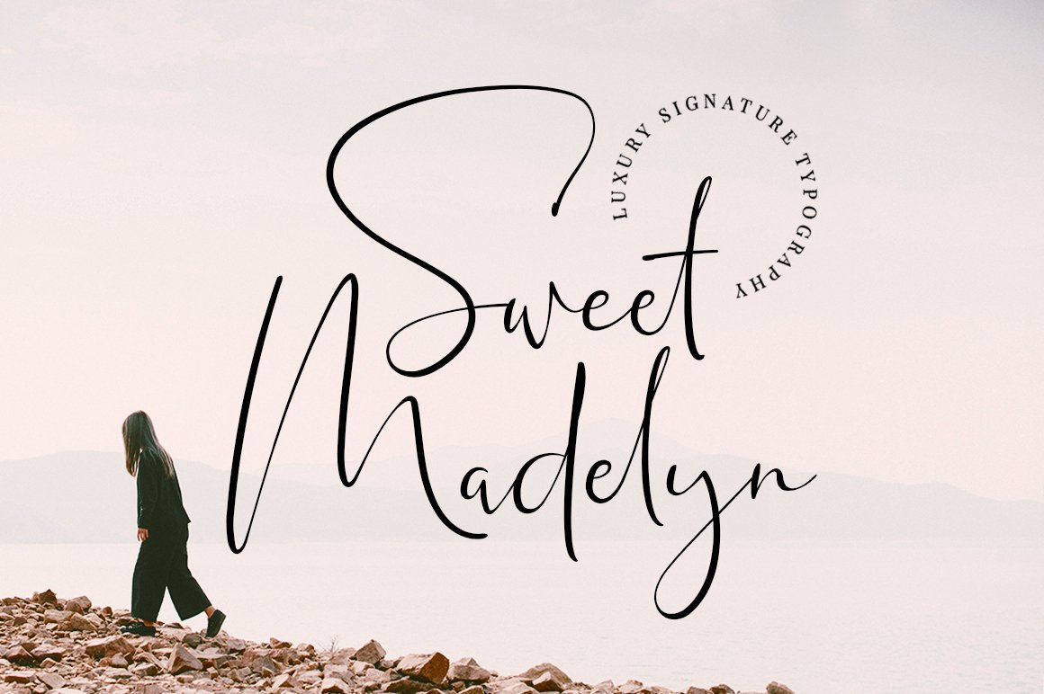 Sweet Madelyn Luxury Signature Script Font-1