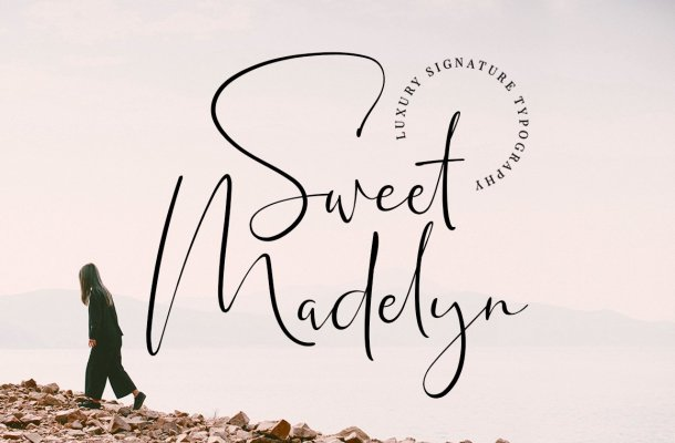 Sweet Madelyn Luxury Signature Script Font