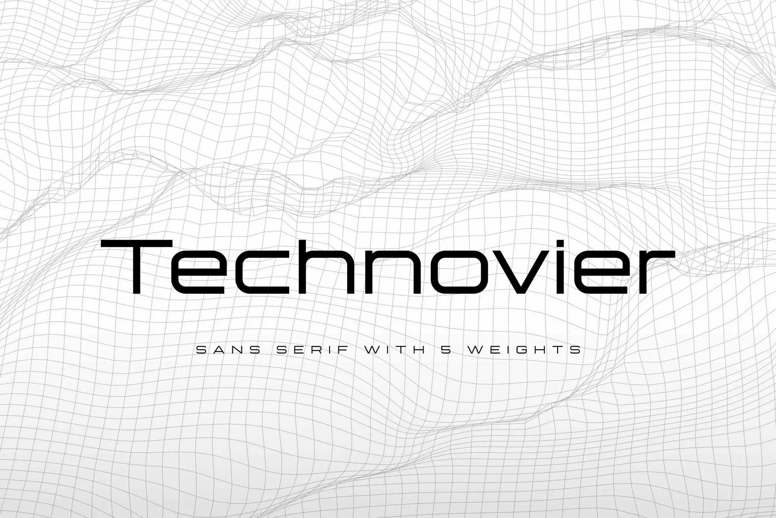 Technovier Sans Serif Font-1