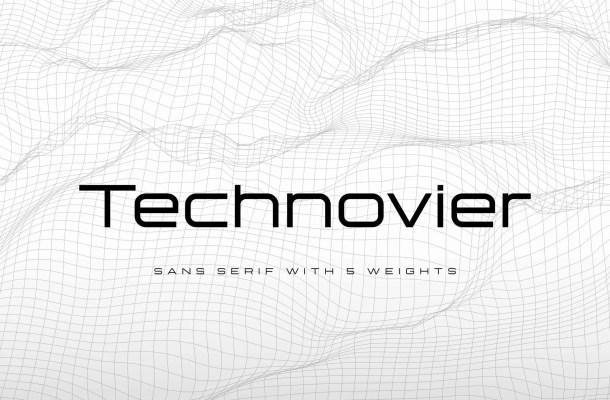 Technovier Sans Serif Font