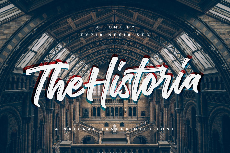 The Historia Brush Script Font-1