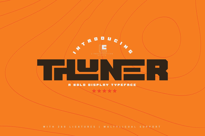 Thuner bold Display typeface-1