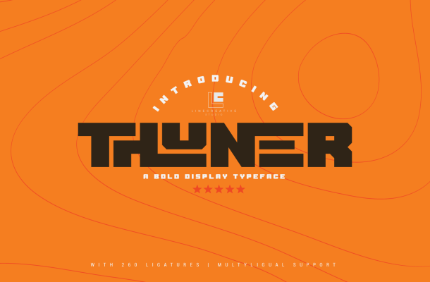 Thuner Bold Display Typeface