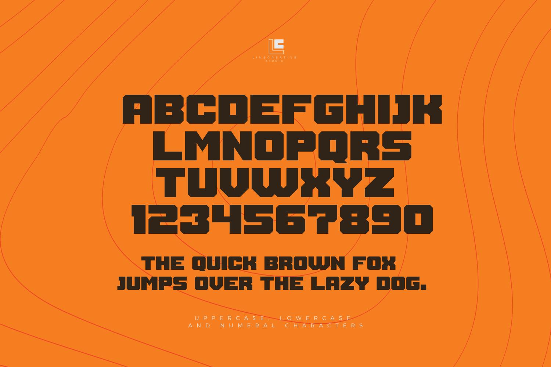 Thuner bold Display typeface-3