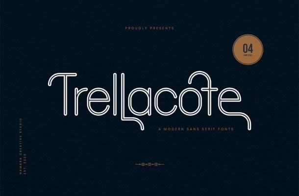 Trellacote Modern Sans Serif Font