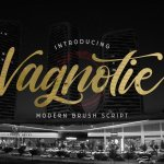 Vagnotie Modern Brush Script Font
