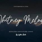 Whitney Melody Stylish Signature Font