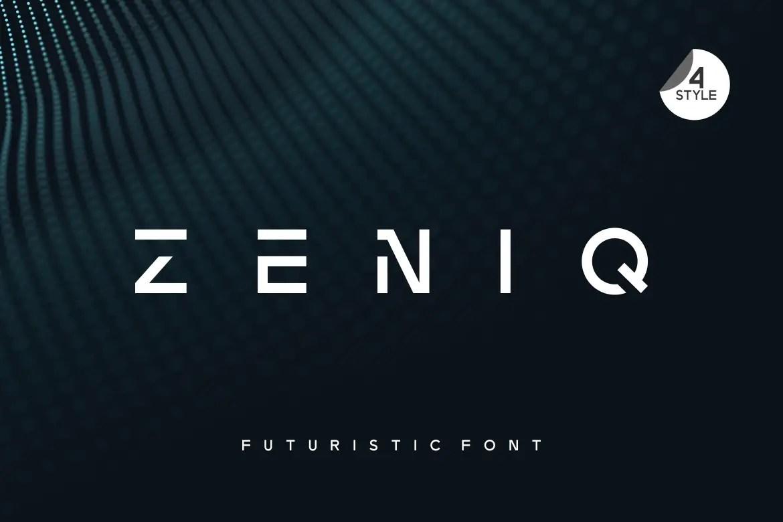 Zeniq Modern Sans Display Font-1