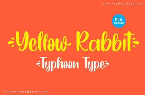 Yellow Rabbit Script Font