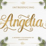 Angelia Modern Script Calligraphy Font