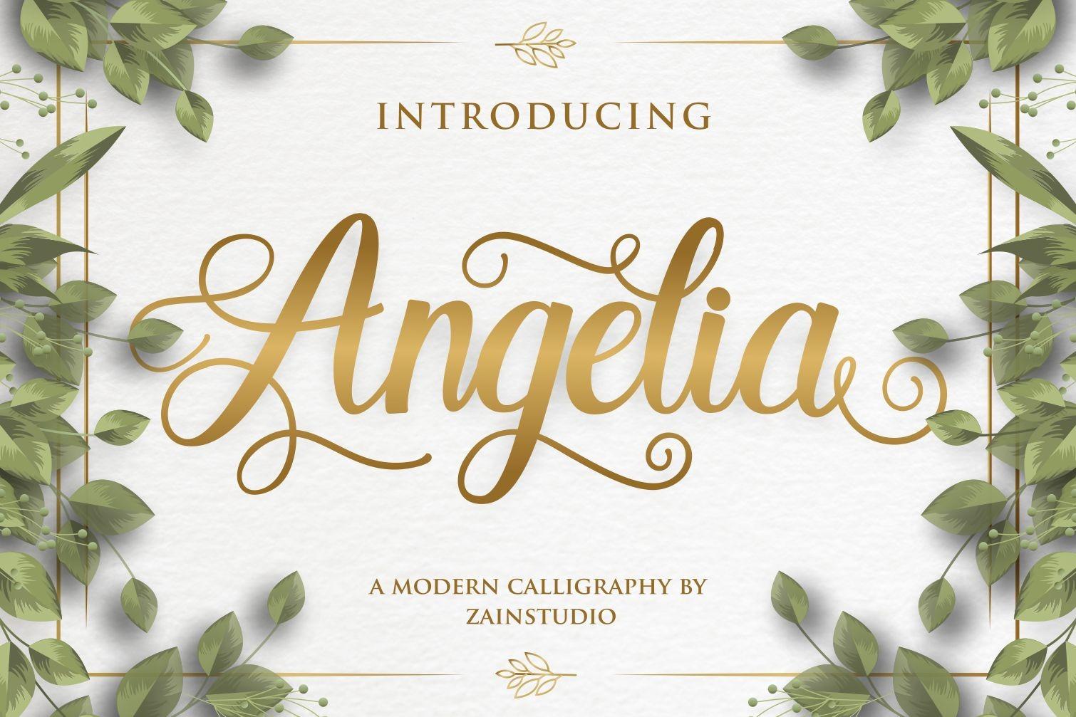 Angelia Modern Script Calligraphy Font-1