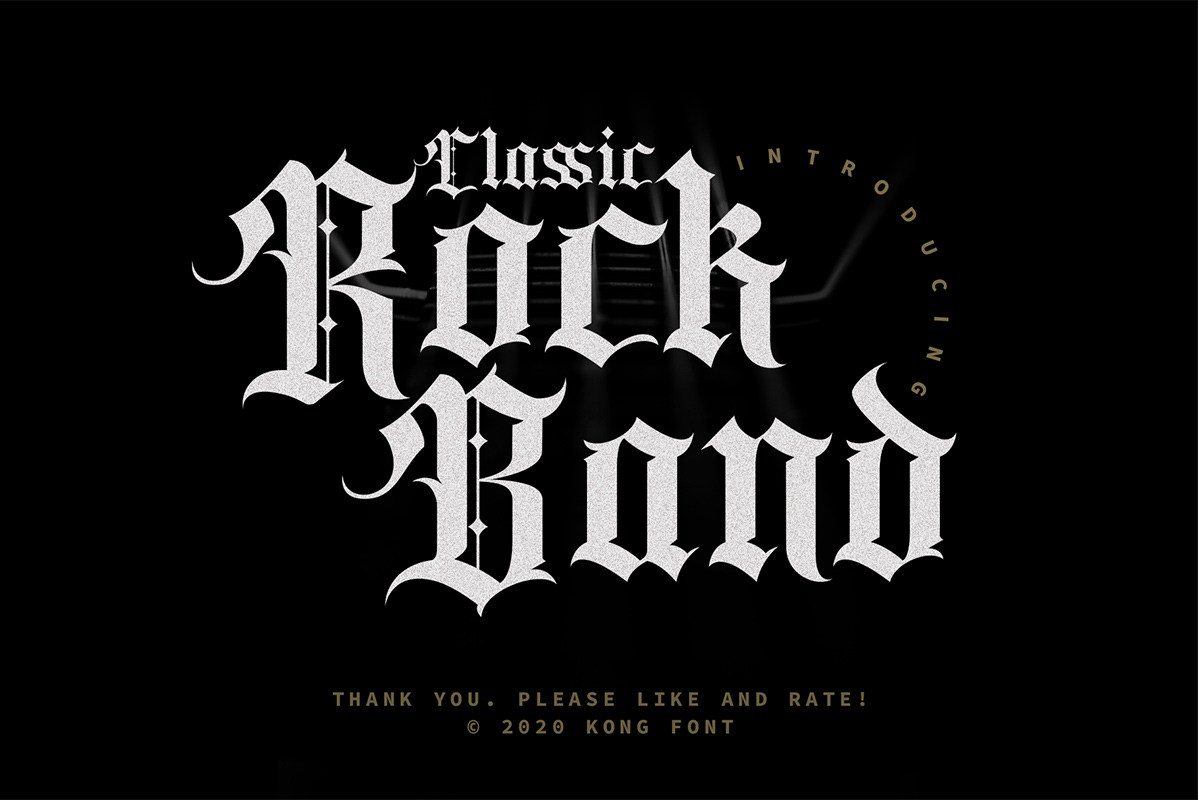 Classic Rock Band Blackletter Font-1
