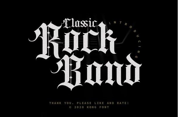 Classic Rock Band Blackletter Font