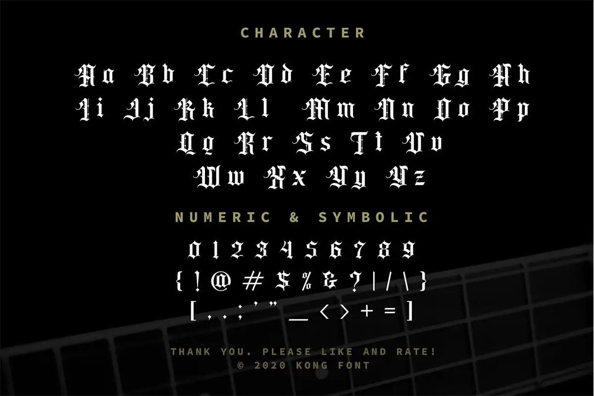 Classic Rock Band Blackletter Font-3