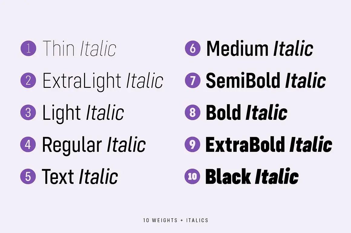 Config Condensed Sans Serif Font Family-2