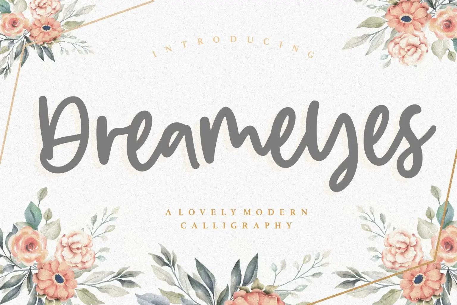 Dreameyes Lovely Modern Calligraphy Font-1