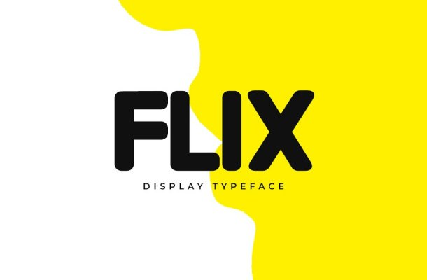 FLIX Unique Display Typeface