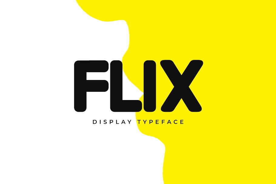 FLIX Unique Display Typeface-1