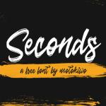 Seconds Rough Brush Script Font