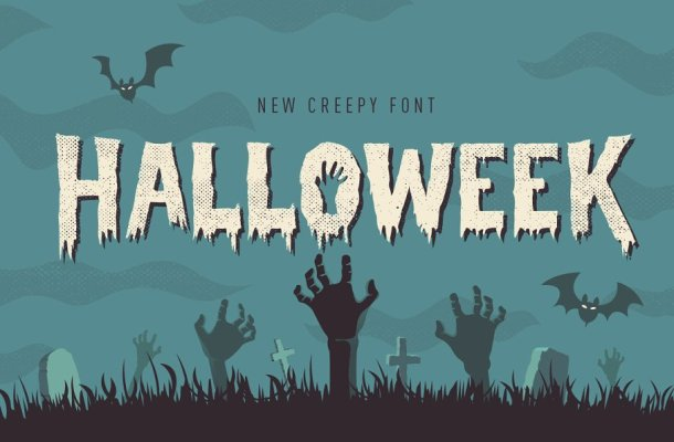 Halloweek Holiday Font