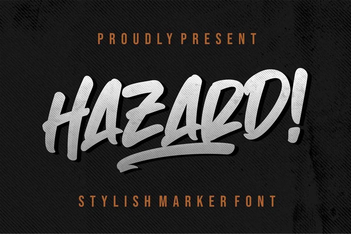 Hazard Stylish Marker Brush Font-1