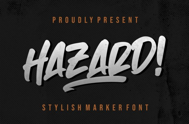 Hazard Stylish Marker Brush Font