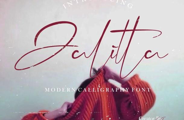 Jalitta Script Calligraphy Font