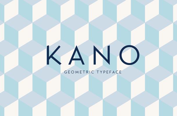 Kano Geometric Sans Serif Typeface