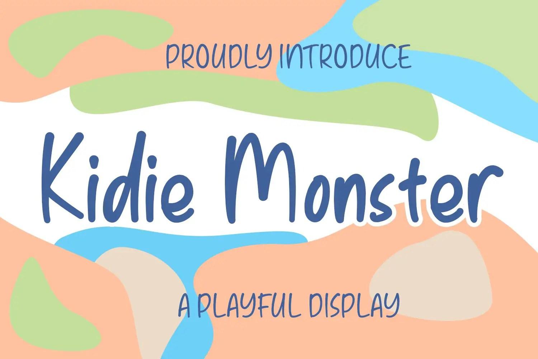 Kidie Monster Display Font-1