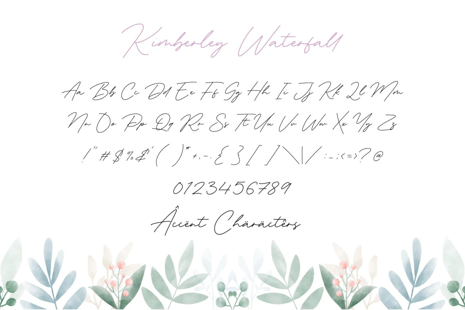 Kimberley Waterfall Modern Monoline Handwritten Font-3