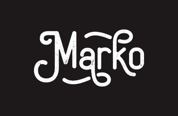 Marko Vintage Display Typeface