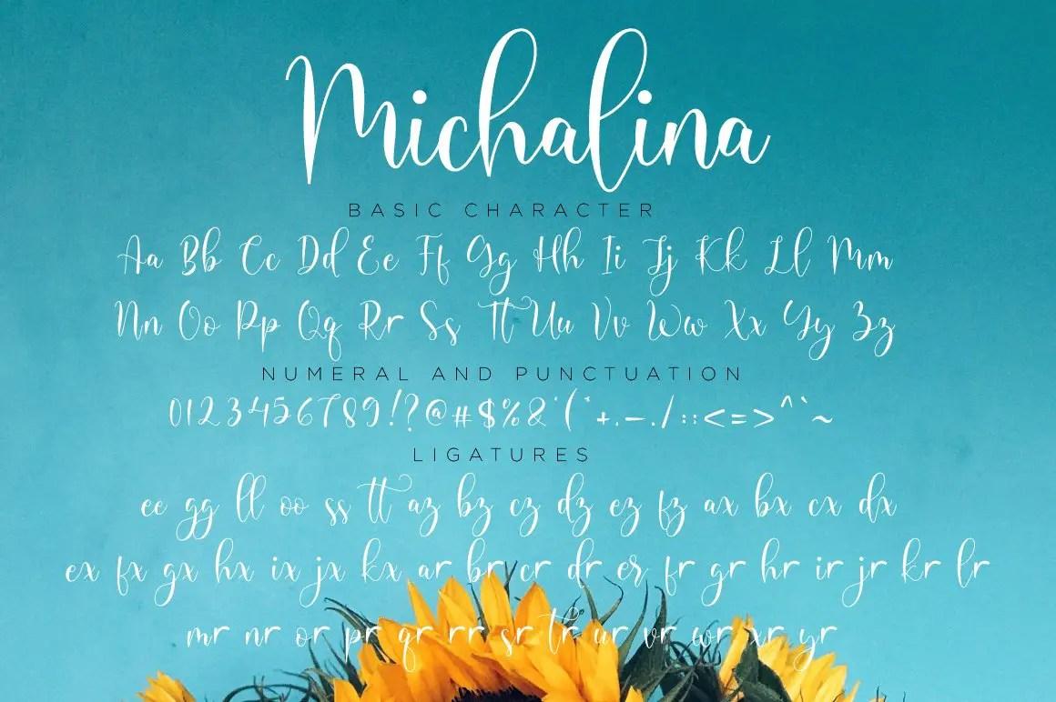 Michalina Script Calligraphy Font-3