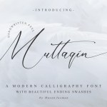 Muttaqin Modern Script Calligraphy Font